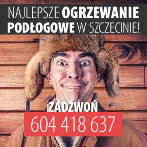 Ogrzewanie podłogowe Szczecin