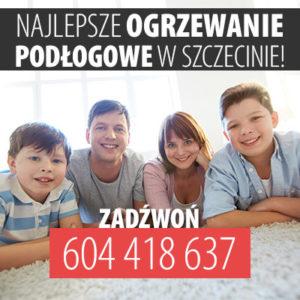 Monta ogrzewania podłogowego Szczecin