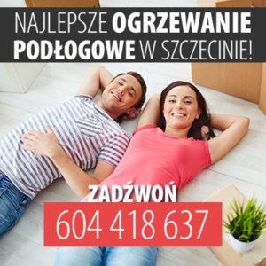 Ogrzewanie podłogowe pod podłogę drewnianą Szczecin